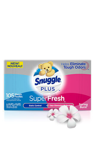 Snuggle® SuperFresh® Spring Burst® Scented Dryer Sheets